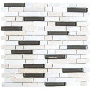 Daltile Stone Radiance Kinetic Khaki 11-3/4 in. x 12-1/2 in. Mosaic Backsplash