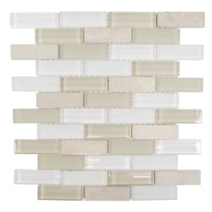 Jeffrey Court Bling Series Lamport Glass and Marble Backsplash