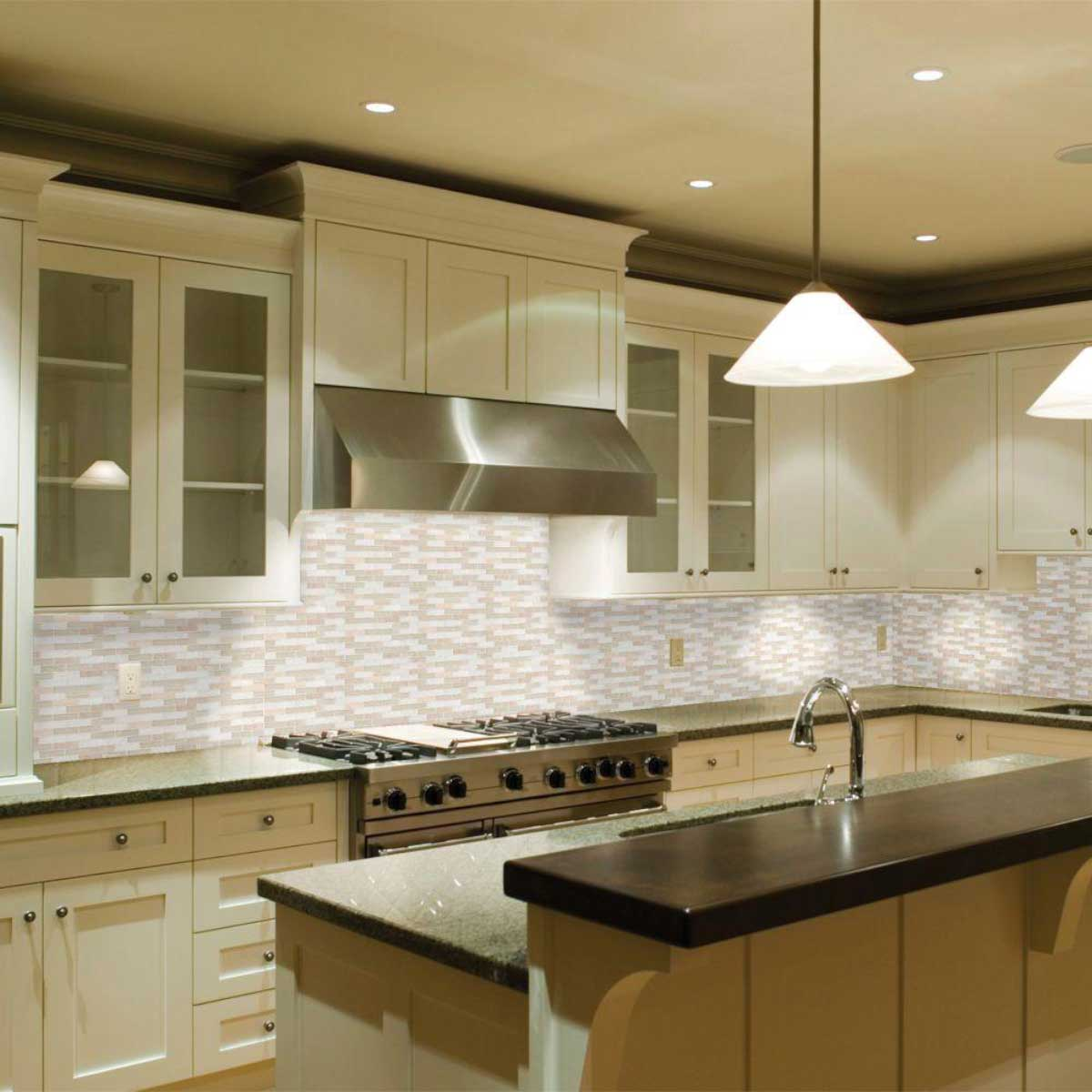 Jeffrey Court Bling Series Lamport Glass And Marble Backsplash The Last Inventory