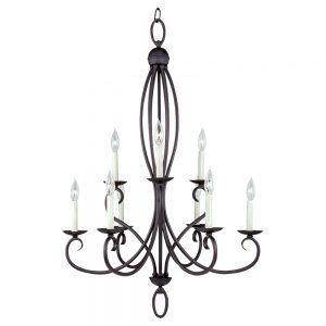 Seagull Lighting Pemberton Collection Peppercorn Chandelier
