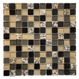 Variations Square 12 in. x 12 in. Stone and Glass Mesh-Mounted Backsplash