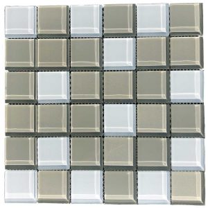 Interceramic Shimmer Series Frost Blend Glossy SO.SHBL.FROS.205.3045GLOS.1 Mosaic Backsplash