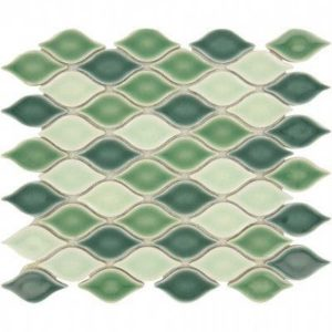 Glazzio Tiles Clouds Series South Sea CLD-499 Backsplash