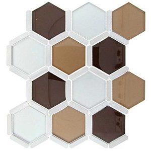 Glazzio Tiles Honeycomb Series Young Fawn HS-162 Backsplash