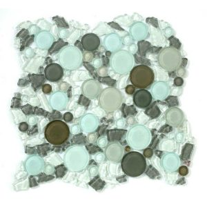 Glazzio Tiles Lagoon Series Icy Peak Glass LG803 Mosaic Backsplash