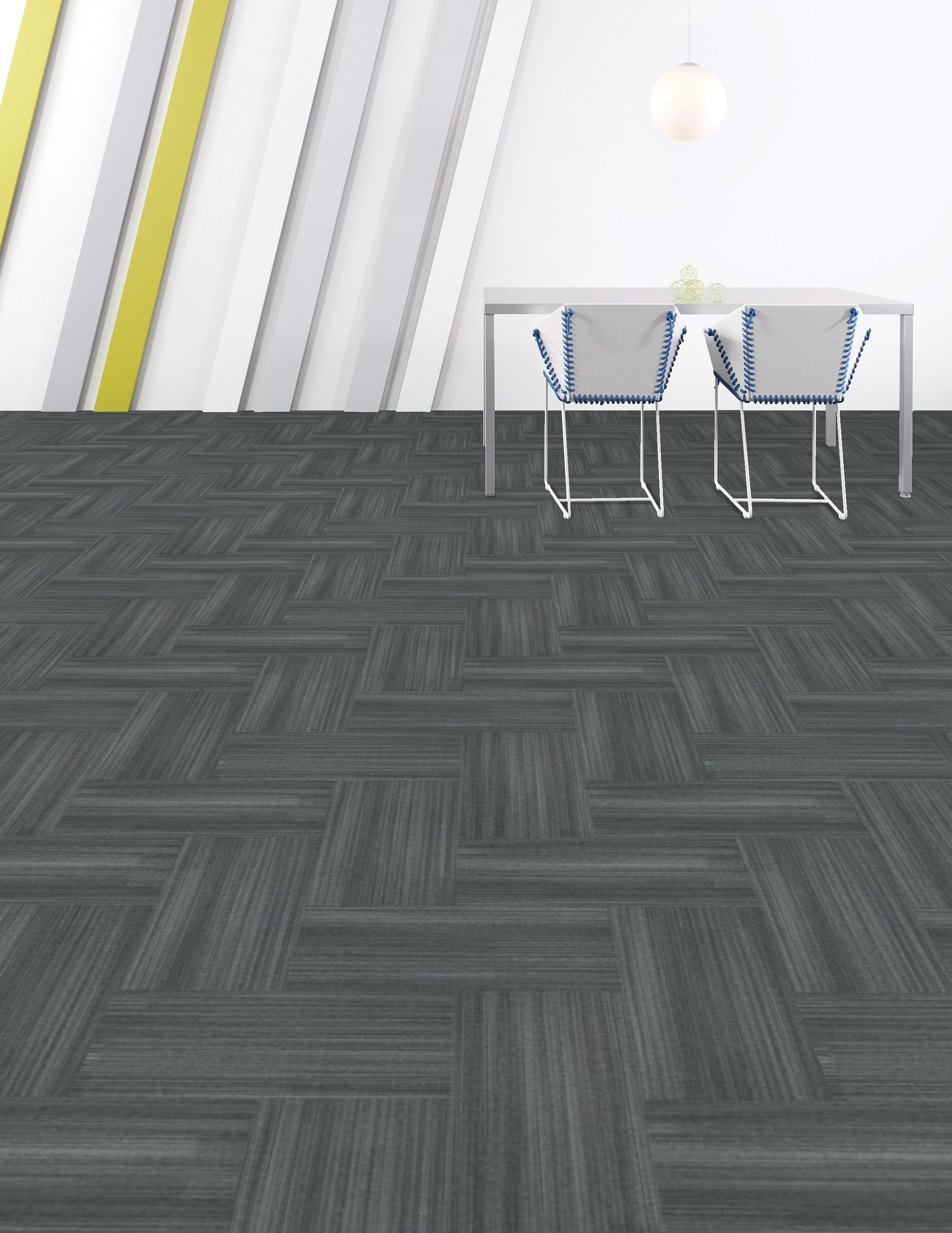 Shaw Achromatic Charcoal 18 In X 36 In Carpet Tile 356