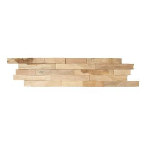 Parawood Natuna 6-in x 24-in Wood Wall Ledger Panel