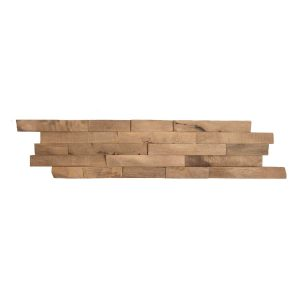 Parawood Borneo 6-in x 24-in Wood Wall Ledger Panel