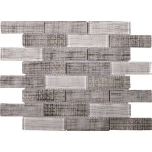 Bati Orient Glass Tile Fabric Print Matte Polished VEMI149 10.3-in x 11.7-in Mosaic Backsplash