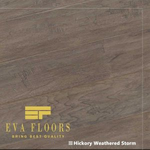 EVA Floors Hickory Weathered Storm Engineered Hardwood Flooring